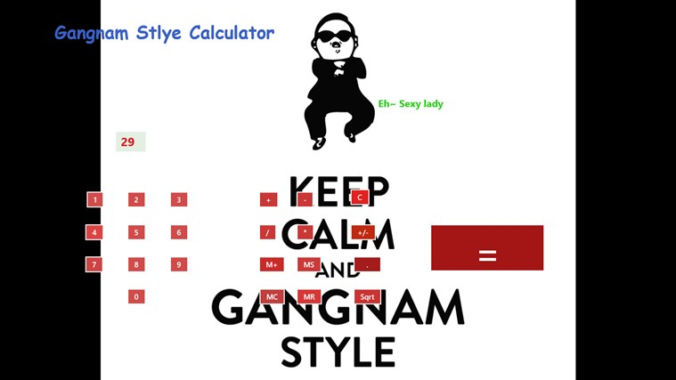 Gangnam Style Calculator screen shot 1