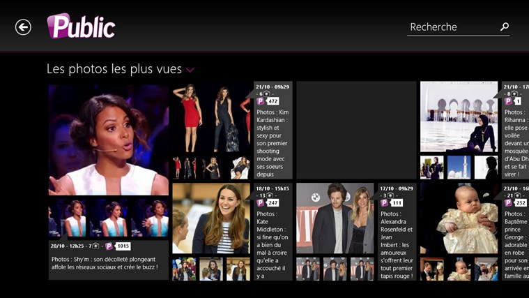 Public : actus people et potins de stars screen shot 5