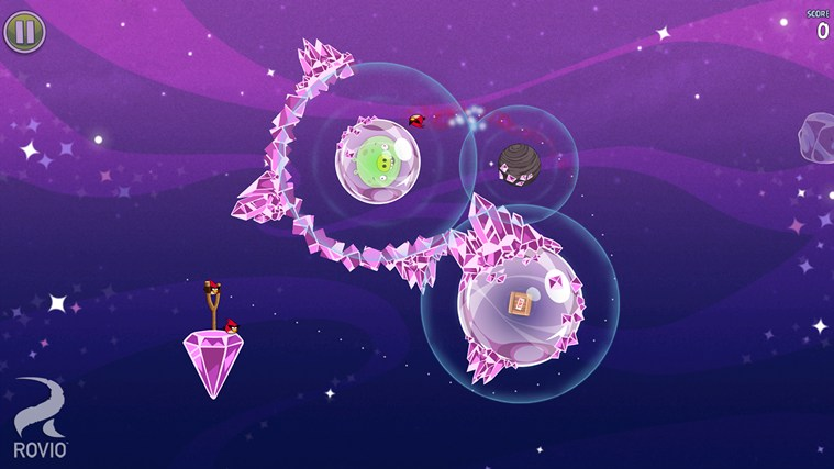 Angry Birds Space screen shot 1
