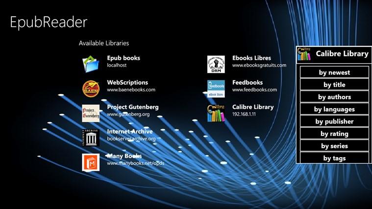 EpubReader captura de tela 1