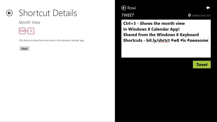 Keyboard Shortcuts screen shot 5