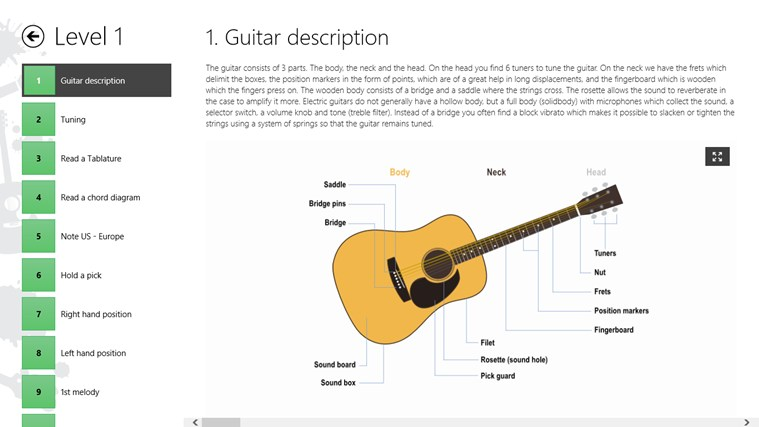 Guitar Lessons Beginners #1 screen shot 3