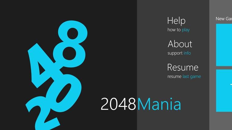 2048 Mania screen shot 1