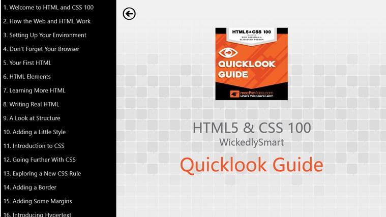 HTML5 & CSS - Quicklook Guide gabháil scáileáin 1