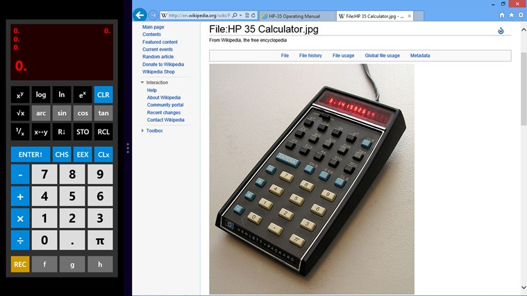 RetroCalc screen shot 1