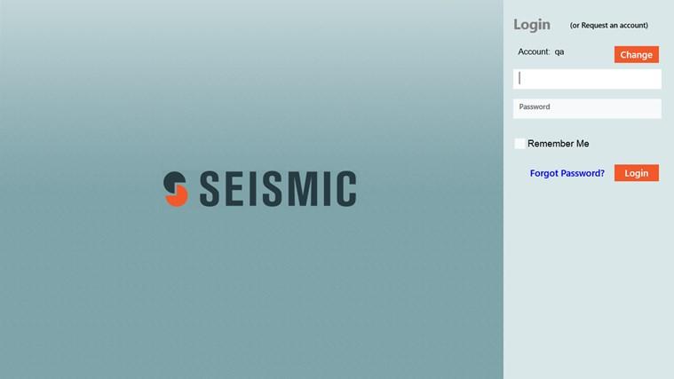 Seismic screen shot 1