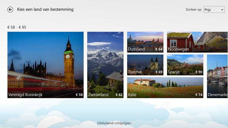 Skyscanner schermafbeelding 1