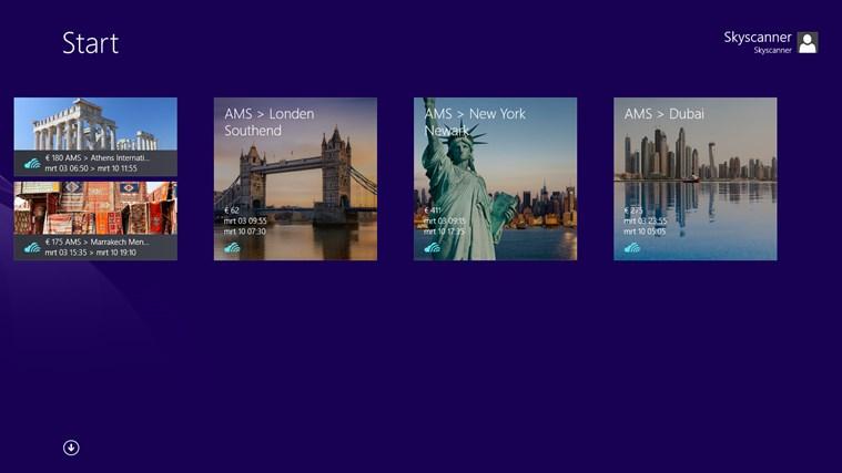 Skyscanner schermafbeelding 5