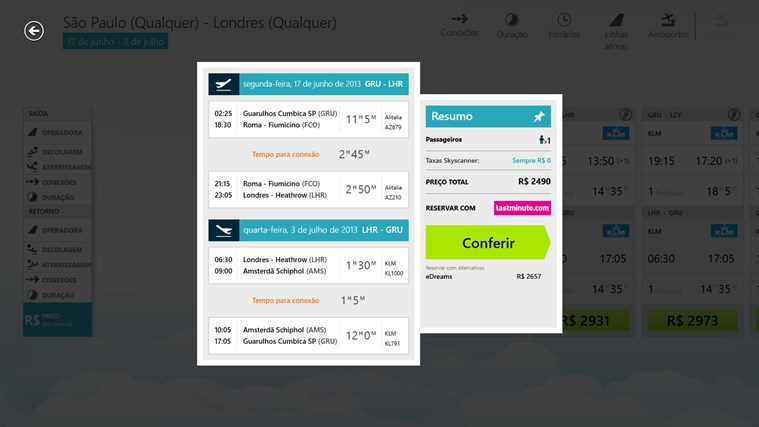 Skyscanner captura de tela 5