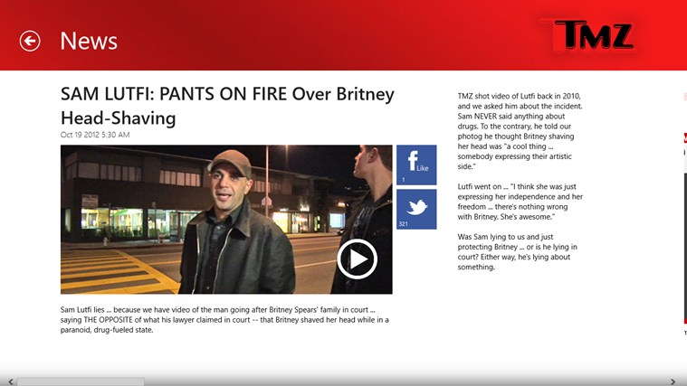 TMZ screen shot 1