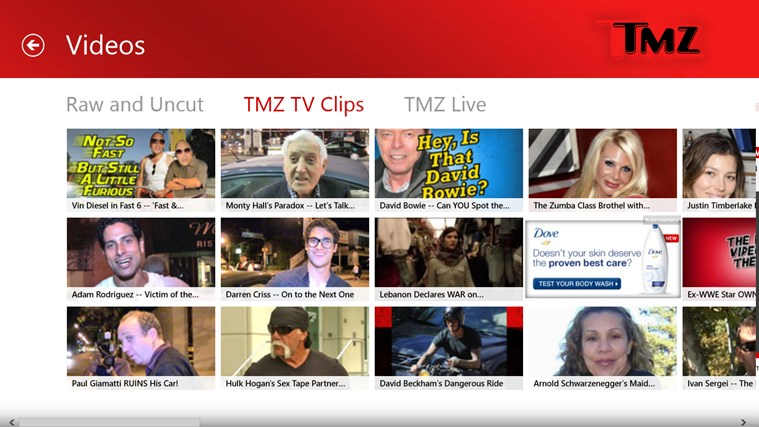 TMZ screen shot 3