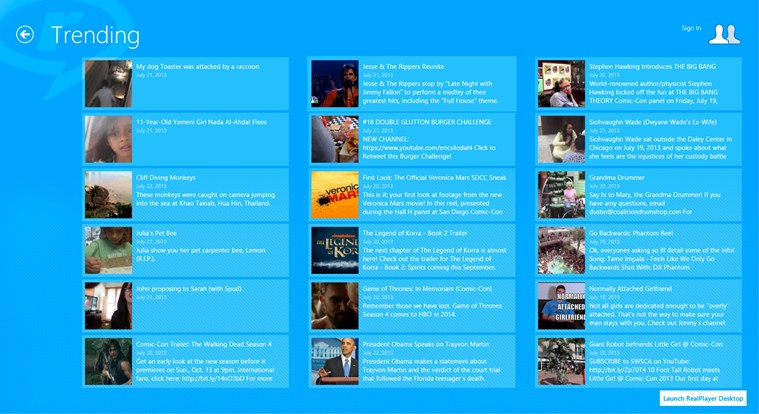 RealPlayer Daily Videos screen shot 3