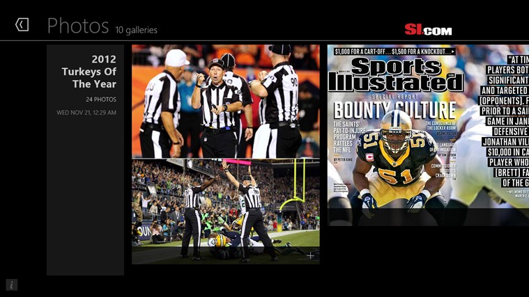Sports Illustrated screen shot 1