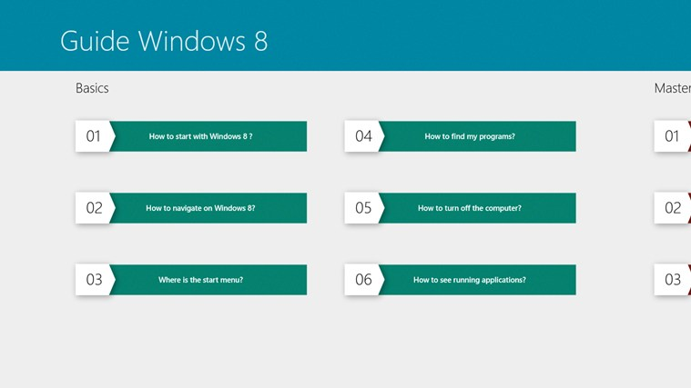 The User's Guide of Windows 8 screen shot 1