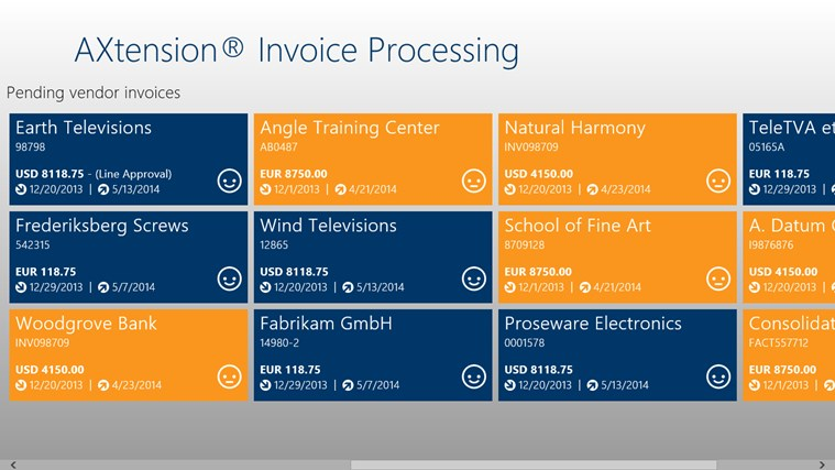 AXtension® Invoice Approval screen shot 1