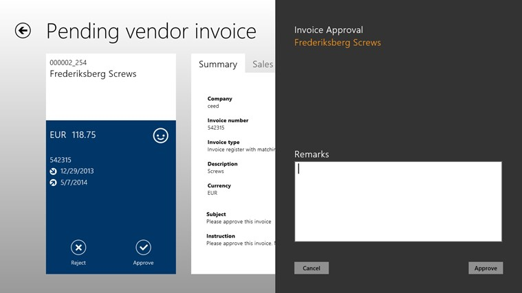 AXtension® Invoice Approval screen shot 3