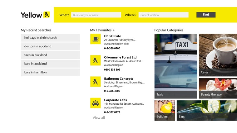 Yellow® NZ screen shot 1