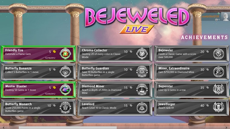 Bejeweled LIVE screen shot 7