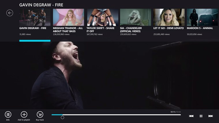 VEVO screen shot 3