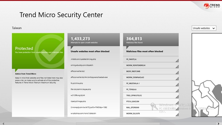 Trend Micro Security Center screen shot 1