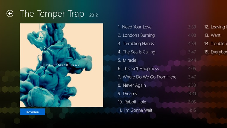 The Temper Trap FANfinity screenshot 5