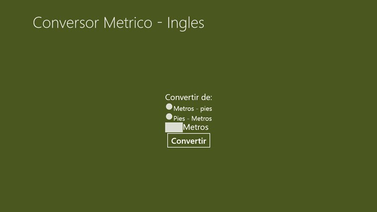 Conversor Metrico - Inglés screen shot 1