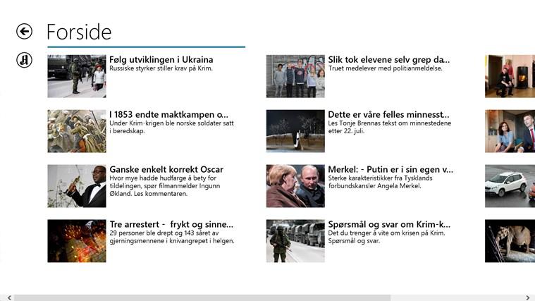 Aftenposten skjermbilde 1