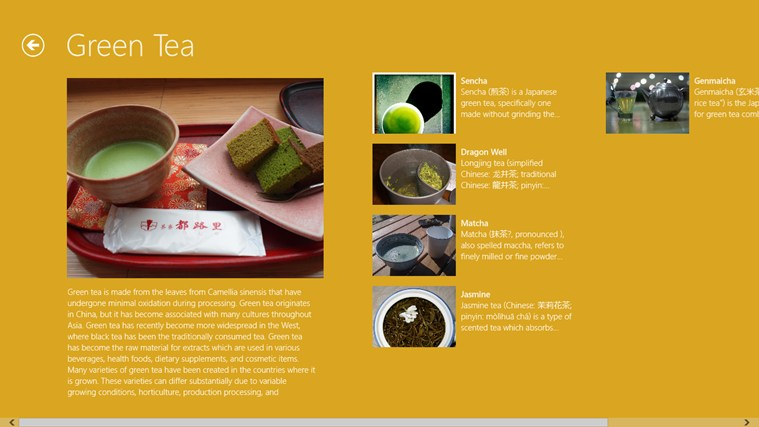 Tea Types screen shot 1