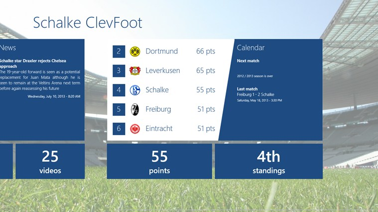 Schalke ClevFoot captura de ecrã 1
