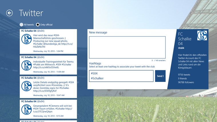 Schalke ClevFoot captura de ecrã 3