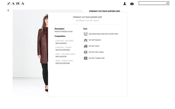 Zara screen shot 5