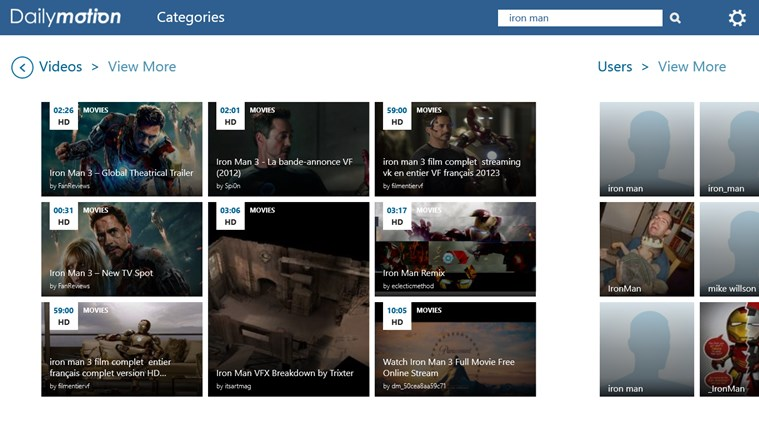 Dailymotion capture d'écran 5
