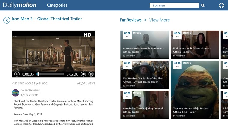Dailymotion capture d'écran 7