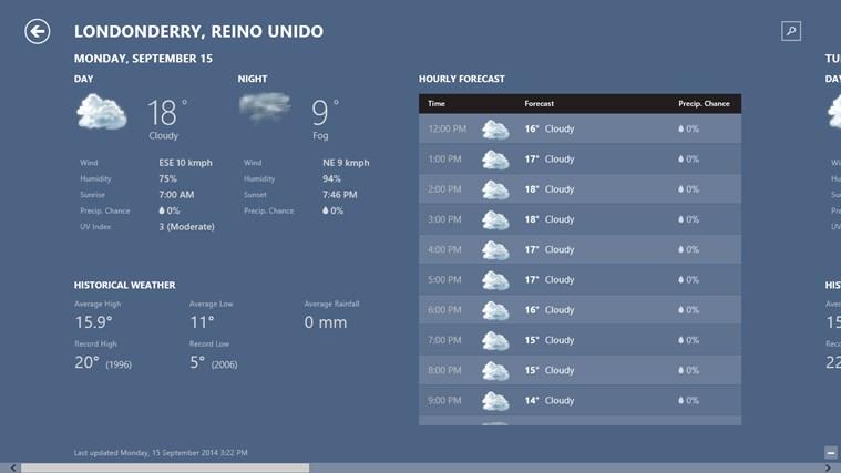 MSN Weather screen shot 1