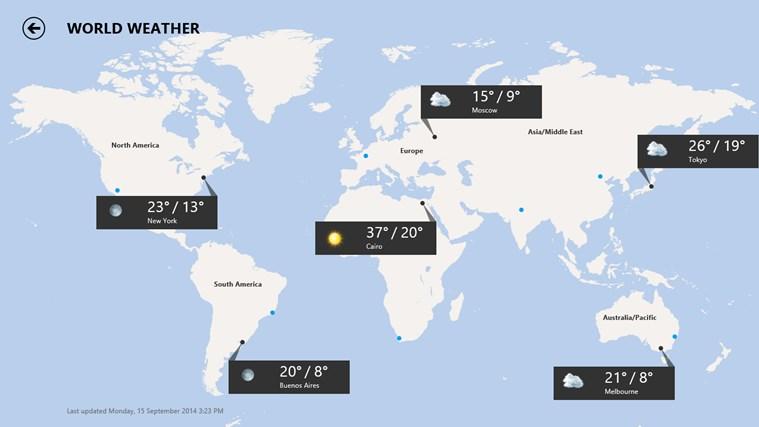 MSN Weather screen shot 7