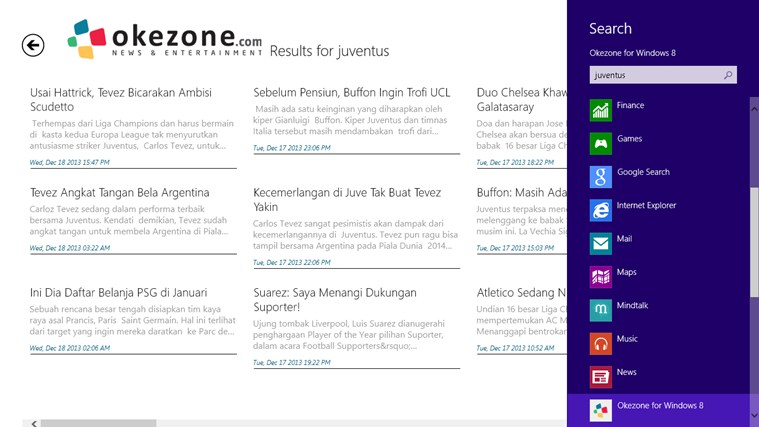 Okezone for Windows 8 screenshot 5