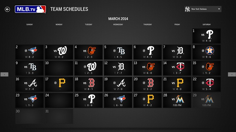MLB.TV screen shot 1
