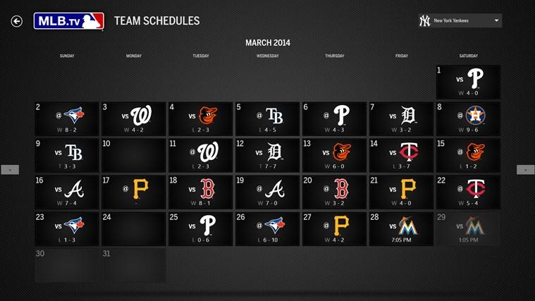 MLB.TV screen shot 1