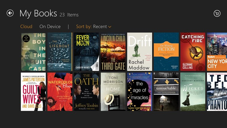 Kindle screen shot 1