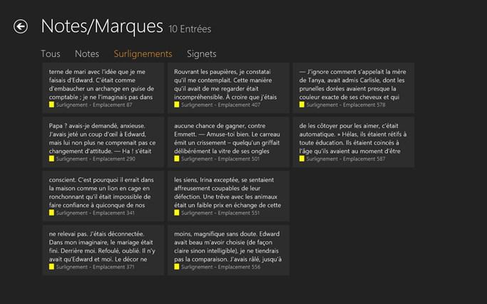 Kindle capture d'écran 7