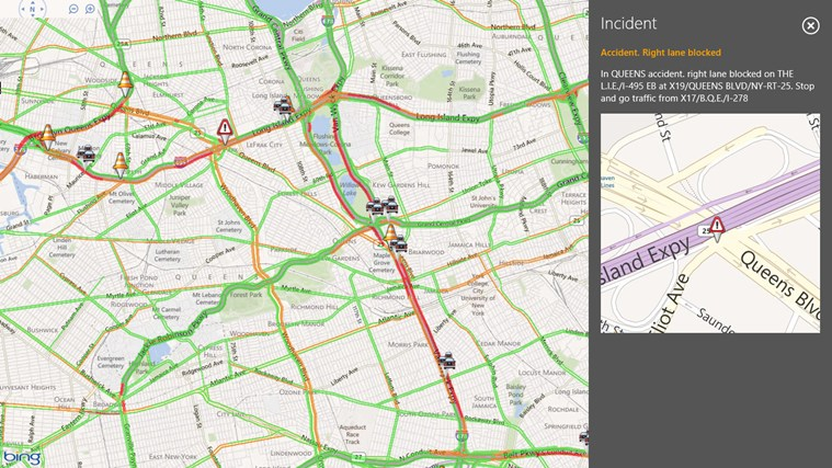 INRIX Traffic screen shot 3
