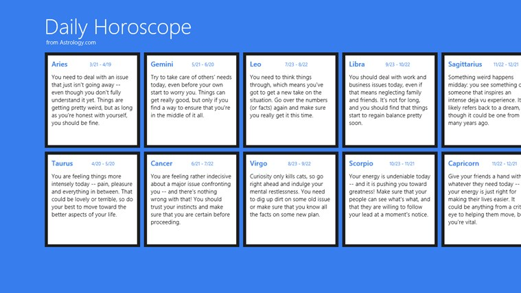 Daily Horoscope 截 图 2 Daily Horoscope