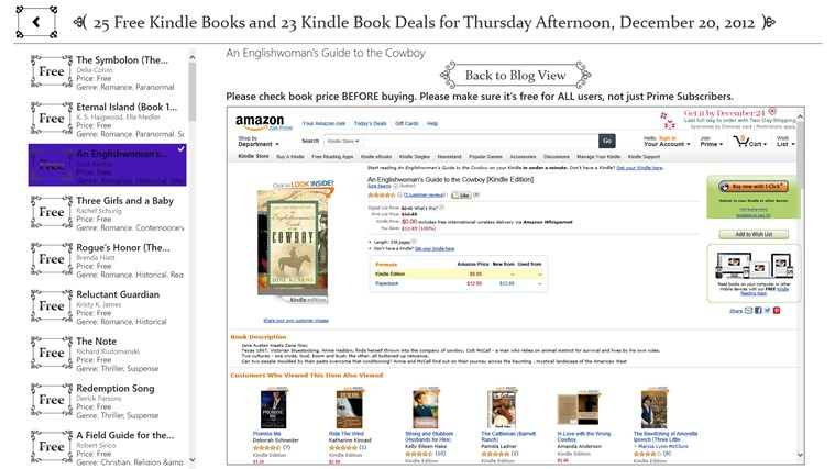 Free Books for Windows screen shot 1