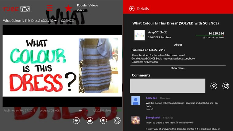 TubeTV for YouTube screen shot 1
