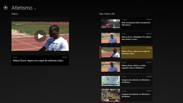 SAPO Desporto captura de ecrã 5