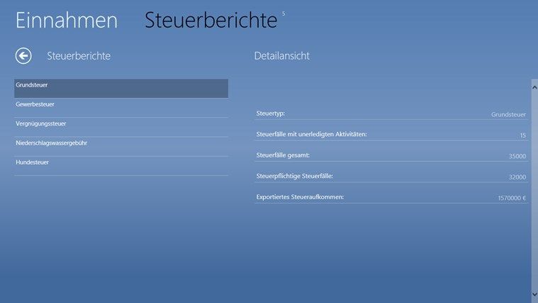 dashface kommunales Verwaltungssystem Screenshot 3