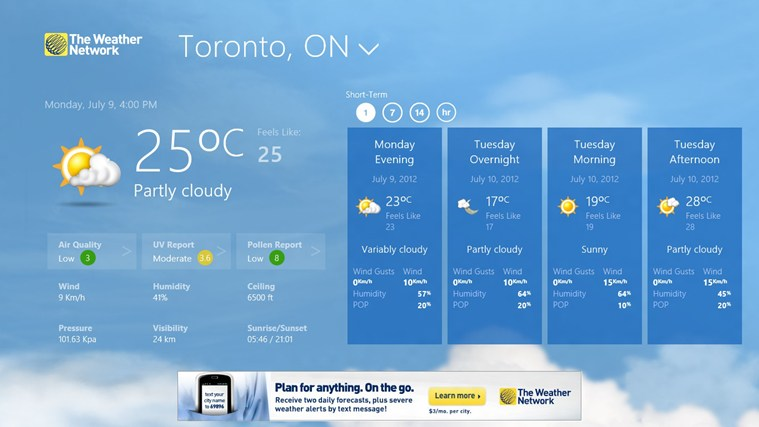The Weather Network screen shot 1