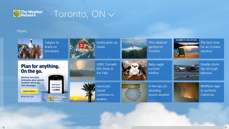 The Weather Network screen shot 3