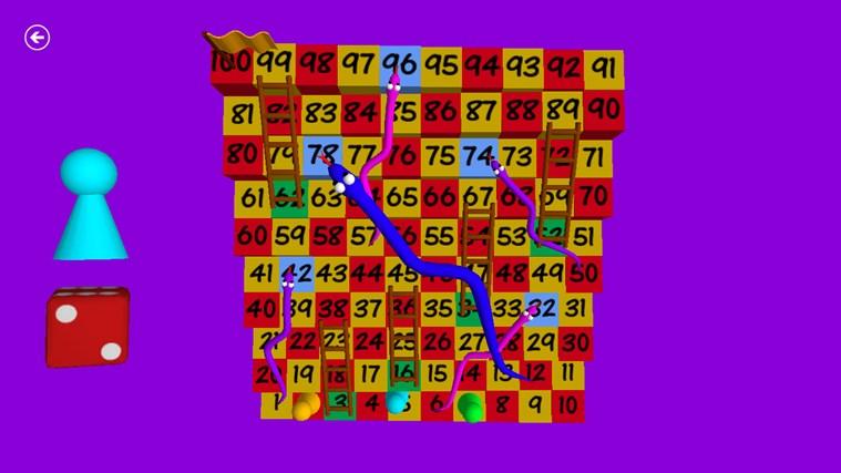 Węże i drabiny 3D zrzut ekranu 1