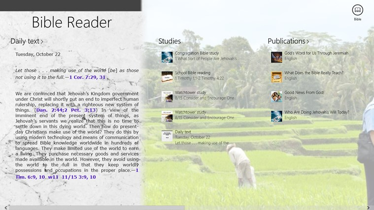 JW Bible Reader screen shot 1